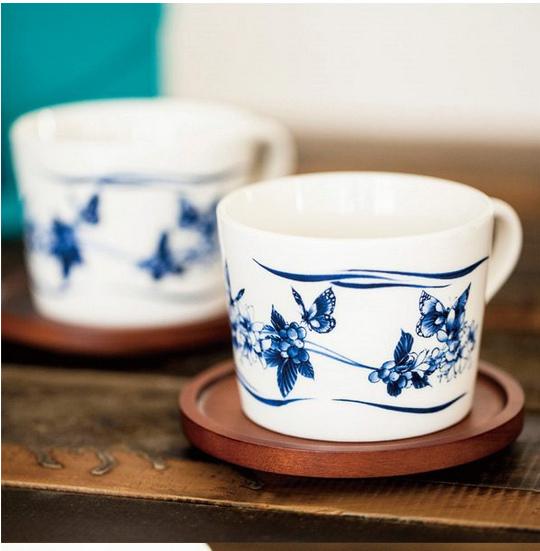 青花瓷咖啡杯組