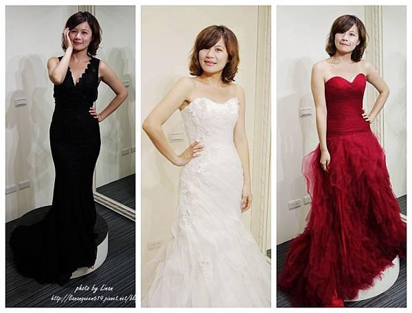 5紅禮服前