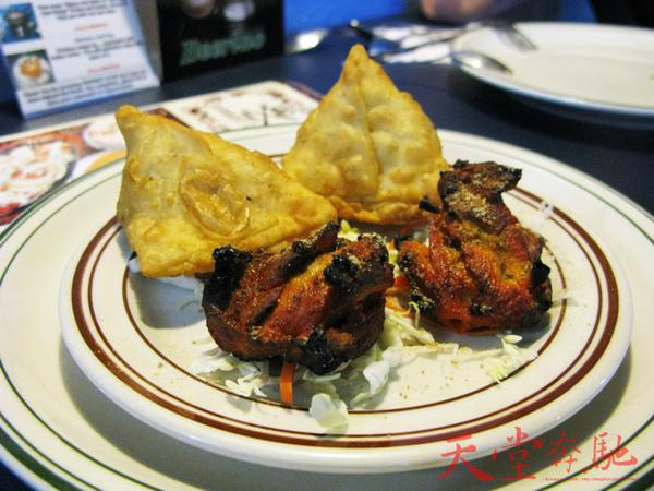 印度咖哩餃子+印式烤雞肉