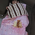超保暖的睡袋,拉開以後就是一床被子,寒流來我也只蓋這件ㄟ!
