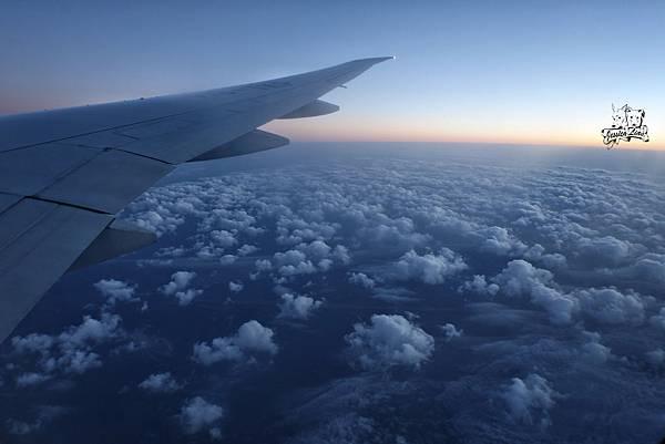 飛機上的日出