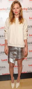 Kate-Bosworth-dressed-her-talk-Lucky-FABB-leather-sweater-metallic-skirt-Topshop-collection