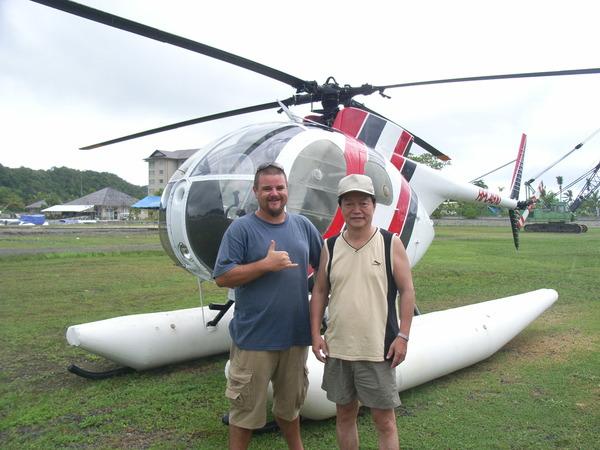 直昇機駕駛和躍躍欲試的老爹