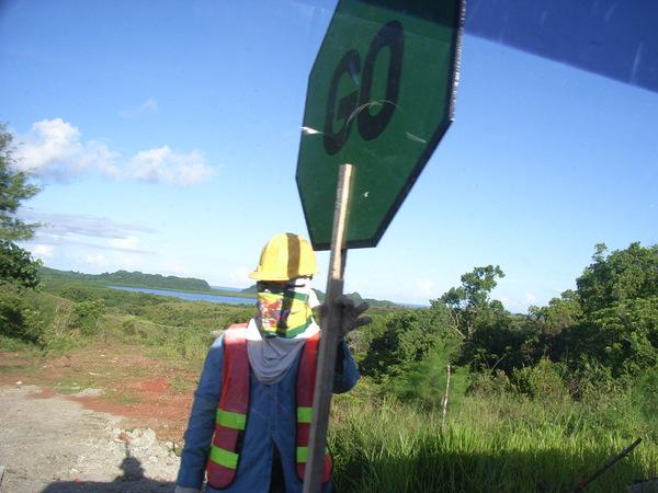 帛琉生活剪影——人力紅綠燈