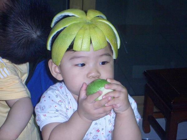 看吧~~柚子帽出現了!!XD