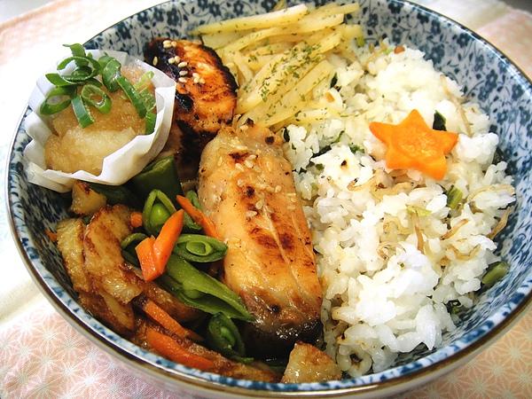 鮭魚西京燒佐柚子ぽん酢蘿蔔泥