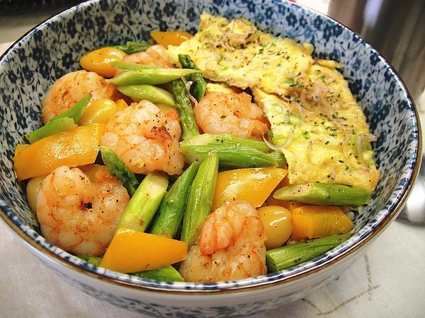 三鮮炒蝦仁