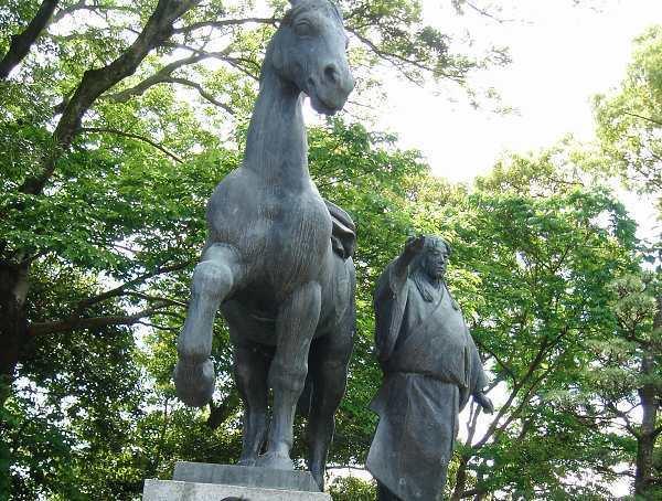 千代夫人贈馬