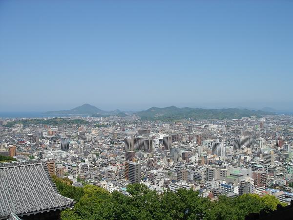 松山城---於天守閣眺望松山市區