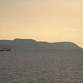 ferry也能欣賞夕陽美景