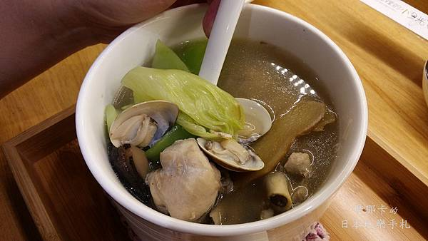 城裡的小月光-珠貝刈菜雞湯