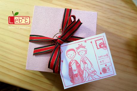 婚禮印章‧和服明信片款(有框)