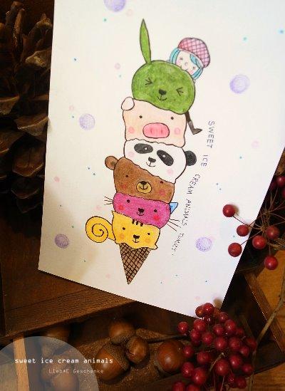 #12動物冰淇淋(手繪)
