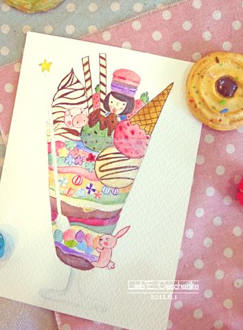 #14冰淇淋聖代(手繪)