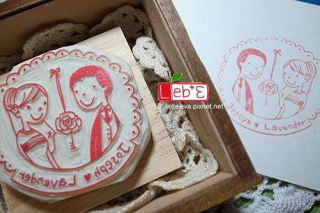 婚禮印章‧蕾絲款(有框)