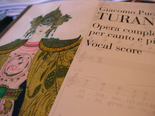 music score of Turandot 杜蘭朵的譜