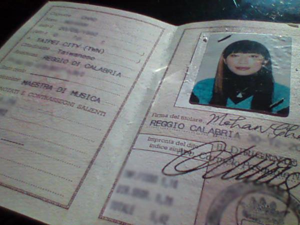 my italian ID 我的義大利身分證
