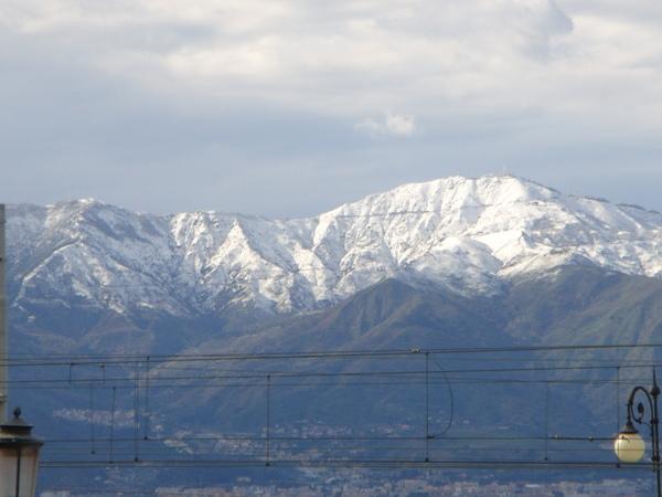 snow on the mountain 山上的積雪