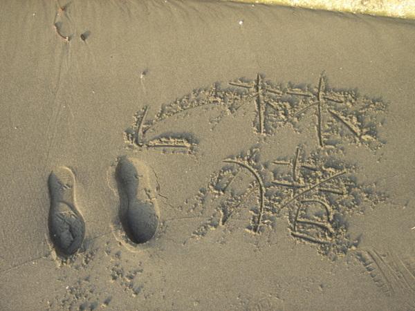 這是我ㄇ大姐ㄉ腳印~