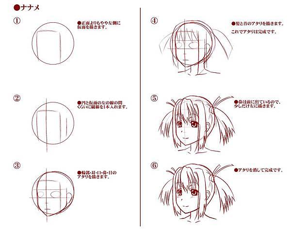 【講座】頭・顔のアタリ(下絵)の描き方02