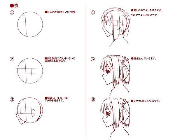 【講座】頭・顔のアタリ(下絵)の描き方03