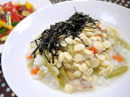 魚片杏仁粥