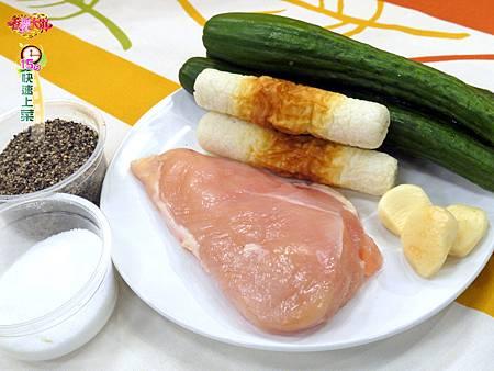 雞胸肉燴炒脆脆瓜-壓標