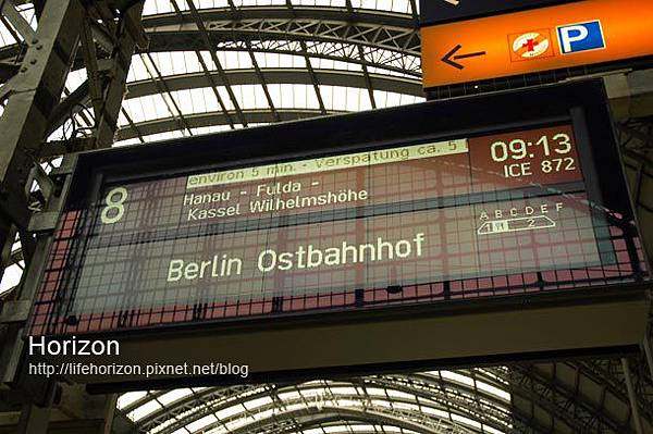 前往柏林的火車看板
