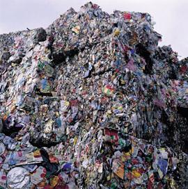 在美國八成的塑膠瓶直接進掩埋場