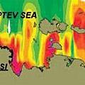 北極表面水體中被溶解的甲烷濃度圖