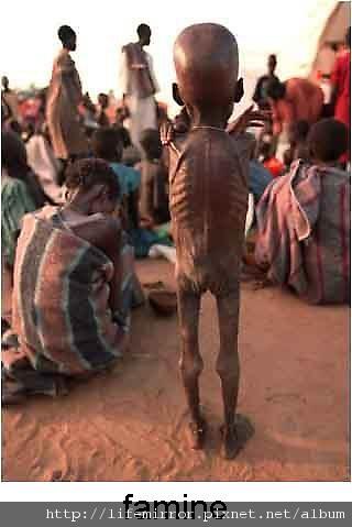 乾旱在非洲造成饑荒