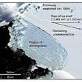 坍塌後的威爾金斯冰架