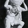 希臘神話中以肩頂天的巨神阿特拉斯