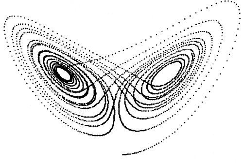 蝴蝶效應 混沌圖形