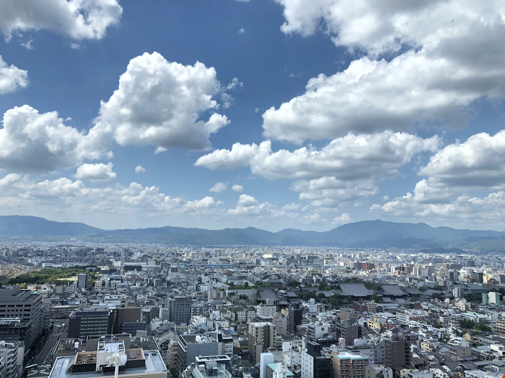 從京都塔往島原(居住地)方向拍的照片.jpg