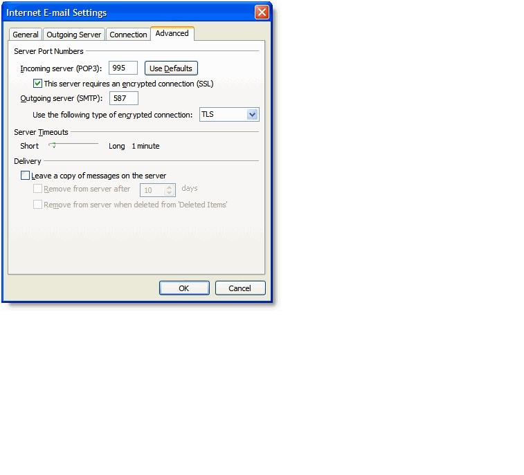 outlook IMAP gmail 9