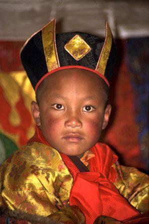 年幼的大寶法王