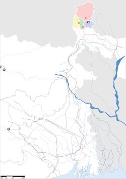 印度錫金邦地圖