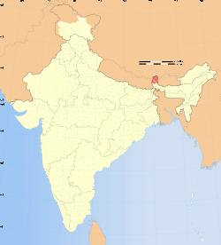 印度錫金邦的位置