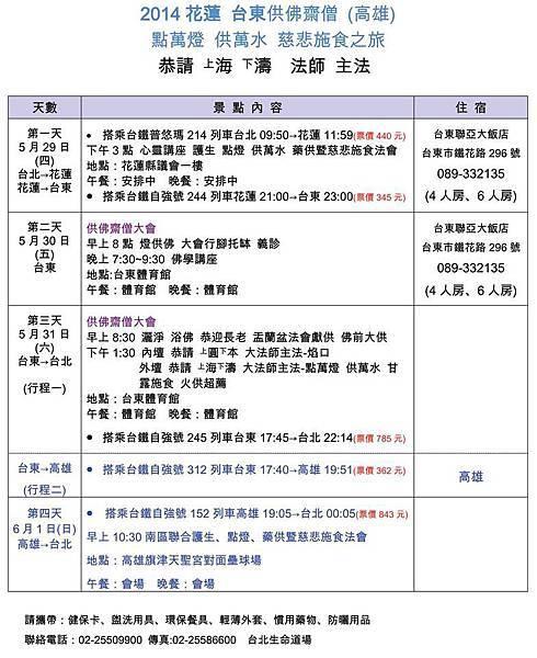 2014花蓮 台東 供佛齋僧
