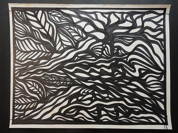 黑與白的對畫