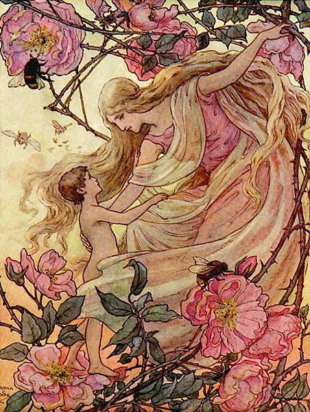 Frank C. Papé-The Rose greets the Child from The Story Without an End, 1912.jpg