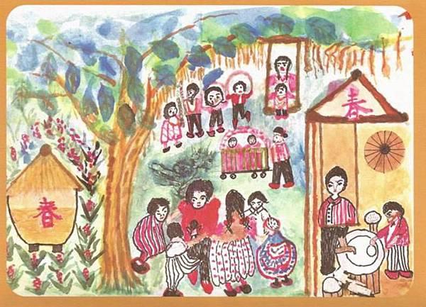 大阿姨畫作獲選製作成2015新年賀卡4