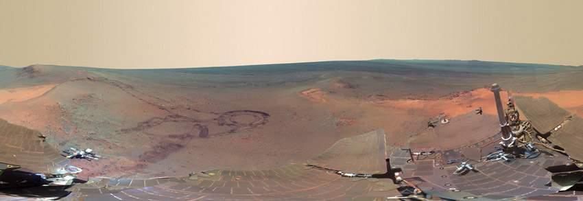 NASA火星全景圖 如臨現場 (2)