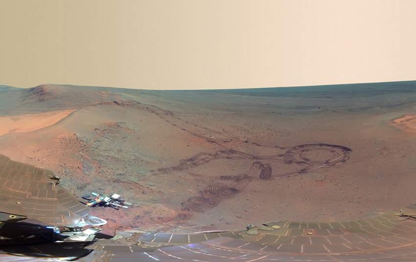 NASA火星全景圖 如臨現場 (1)