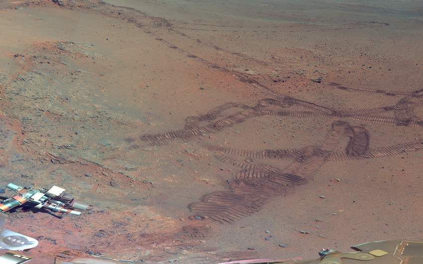 NASA火星全景圖 如臨現場 (6)