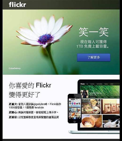 flickr容量1TB
