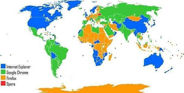C,最普及的網路瀏覽器地圖