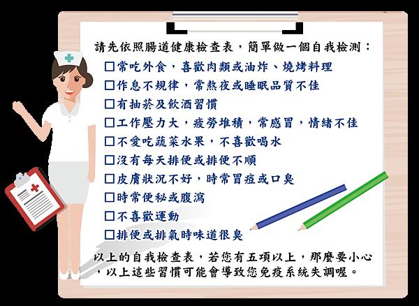 立康-腸胃自我檢查表