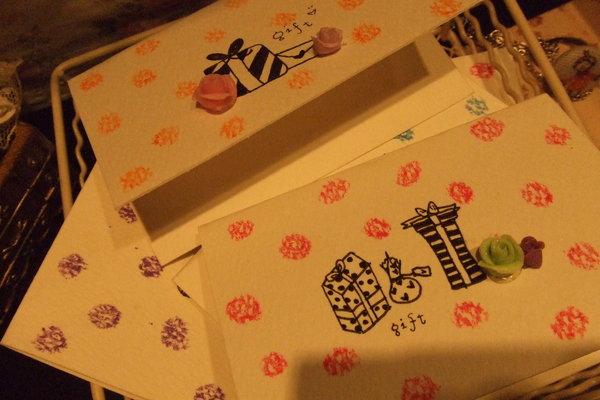 手工禮卡。2008-12